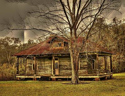 Photograph - Abandoned Cajun Home by Ronald Olivier
