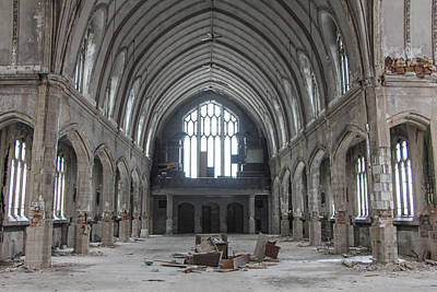 Detroit Abandoned Buildings Photograph - Abandoned Church In Detroit  by John McGraw