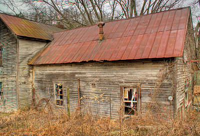 Abandoned Farmhouse In Kentucky Art Print by Douglas Barnett
