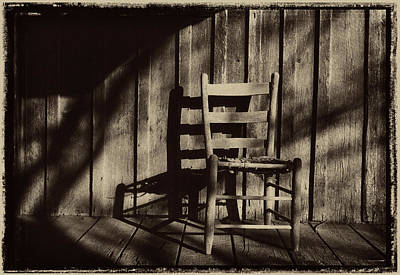 Photograph - Abandoned Hand Made Chair On A Ozark Timber Cutters Porch1969 by Garry McMichael