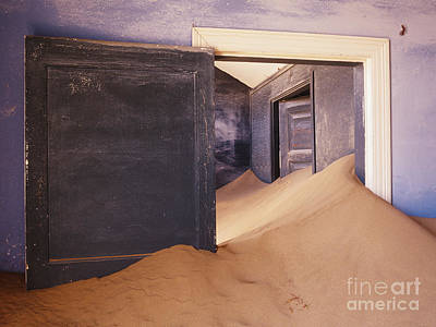 Abandoned House Filled With Drifting Sand Art Print by Jeremy Woodhouse