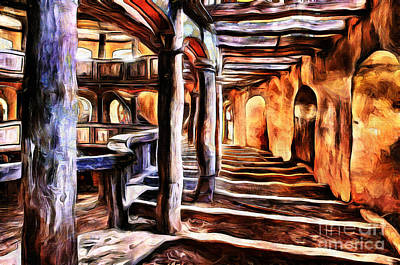 Painting - Abandoned Opera by Milan Karadzic