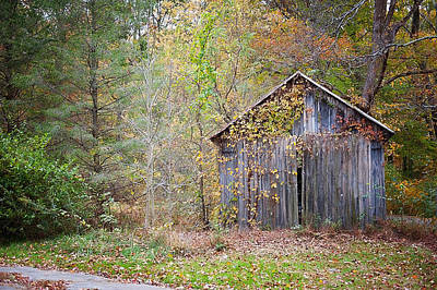 Photograph - Abandoned Shed by Kelley Nelson