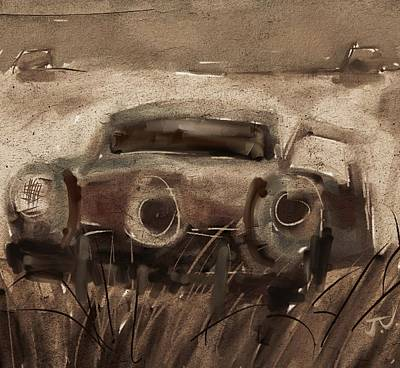 Digital Art - Abandoned Studebaker by Jim Vance