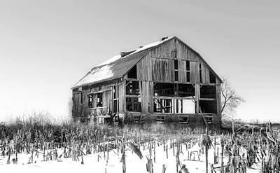Abandoned Winter Barn Art Print