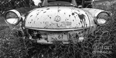 Junk Photograph - Abaondoned Car Along Route 66 by Twenty Two North Photography