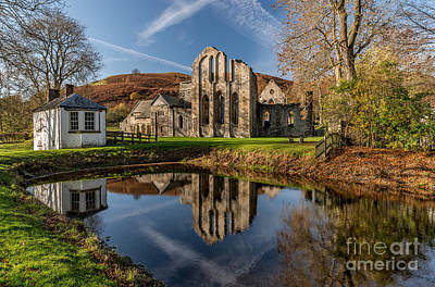 Abbey Reflection Art Print by Adrian Evans