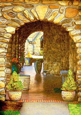 Abbey Stone Arch Art Print by Linda Bourie