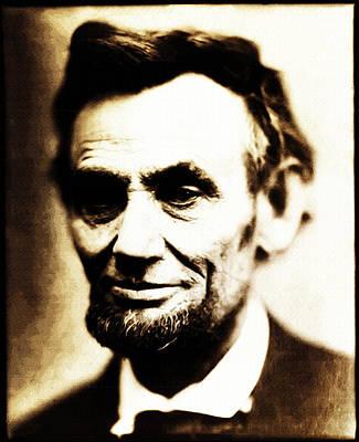 Civil War Lincoln Digital Art - Abe by Bill Cannon