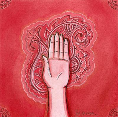 Abhaya Mudra Art Print by Sabina Espinet