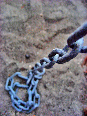 about LOVE. Iron chain. Art Print