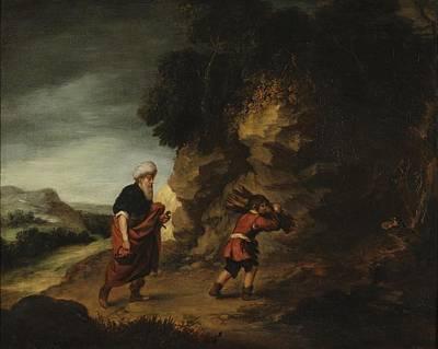 Dupont Painting - Abraham And Isaac by Gainsborough Dupont