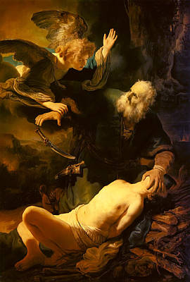 Altar Painting - Abraham And Isaac by Rembrandt van Rijn