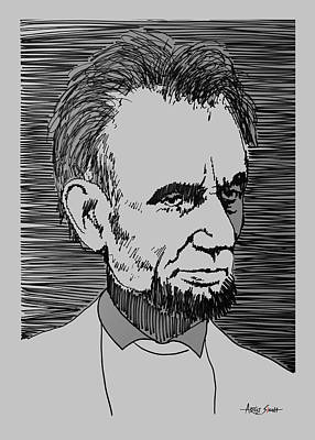 By Artist Singh Painting - Abraham Lincoln 1 by Artist Singh