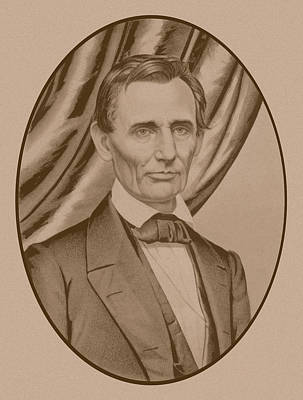 Great Drawing - Abraham Lincoln Circa 1860  by War Is Hell Store