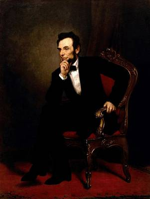 Healy Painting - Abraham Lincoln  by George Peter Alexander Healy