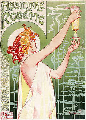 Painting - Absinthe Robette by Henri Privat-Livemont