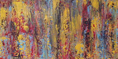 Yello Painting - Abstract # 13 by Fiona Dinali