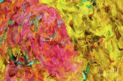 Digital Art - Abstract 46 Digital Oil Painting On Canvas Full Of Texture And Brig by Amy Cicconi