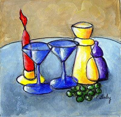 Painting - Grapes N Candles by Barbara Lemley
