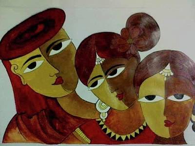 Katharine Hepburn - Abstract Art by Shilpa Mehta
