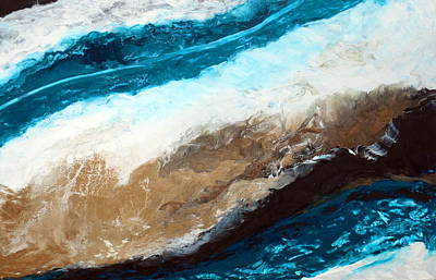 Abstract Seascape Mixed Media - Abstract Beach 2 by Holly Anderson
