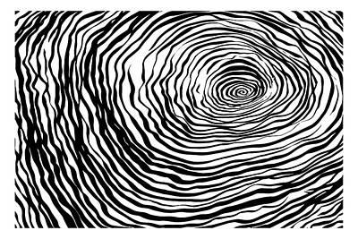 Abstract Black Stripes Original by Maryna Kulchytska