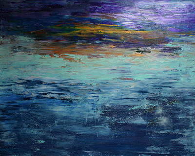 Painting - Abstract Blue by Alma Yamazaki