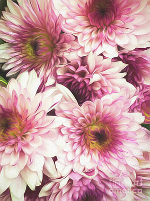 Digital Art - Bouquet Of Painted Flowers by Mary Raderstorf