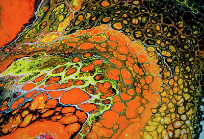 Painting - Abstract Cellular Painting by Lilia D