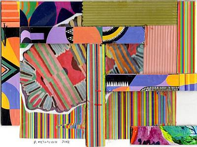 Drawing - Abstract Collage by Paul Meinerth
