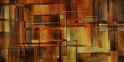 Earth Tones Painting - Abstract Design 87 by Michael Lang