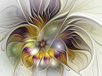 Digital Art - Abstract Fantasy Flower by Gabiw Art
