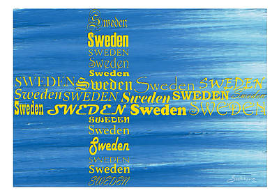 Wall Art - Painting - Abstract Flag Of Sweden by Sannel Larson