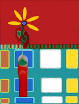 Digital Art - Abstract Floral Art 125 by Miss Pet Sitter