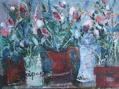 Painting - Abstract Flowers by Betty Pieper
