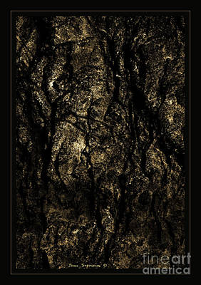 Photograph - Abstract Gold And Black Texture by John Stephens
