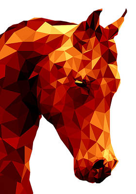 Horse Digital Art - Abstract Horse by Gallini Design