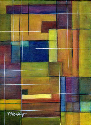 Painting - Abstract Line Series by Patricia Cleasby