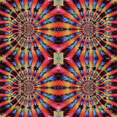 Digital Art Rights Managed Images - Abstract Mandala Fabric Pattern Royalty-Free Image by Pierre Blanchard