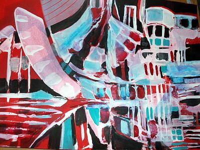 Painting - Abstract Marina by Therese AbouNader