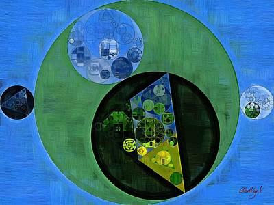 Art Print featuring the digital art Abstract Painting - Amazon by Vitaliy Gladkiy