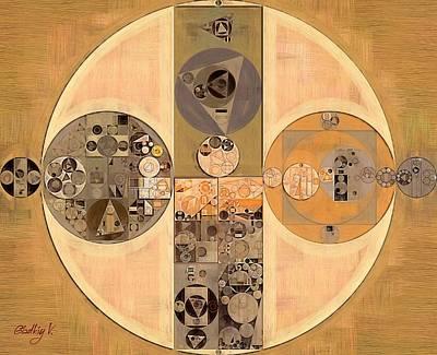 Muddy Waters Digital Art - Abstract Painting - Brown Bramble by Vitaliy Gladkiy