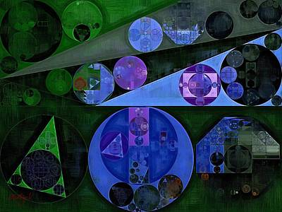 Abstract Forms Digital Art - Abstract Painting - Catalina Blue by Vitaliy Gladkiy