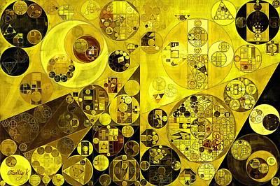 Citrine Digital Art - Abstract Painting - Citrine by Vitaliy Gladkiy