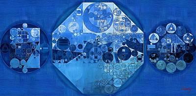 Geometric Symbol Digital Art - Abstract Painting - Cool Black by Vitaliy Gladkiy