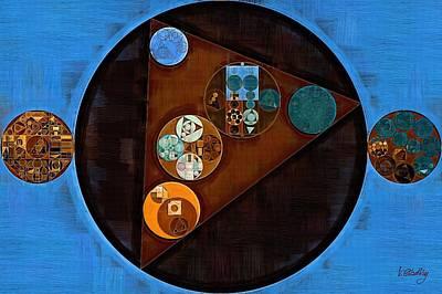 Ornamental Digital Art - Abstract Painting - Curious Blue by Vitaliy Gladkiy