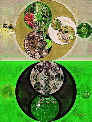 Abstract Painting - Dark Jungle Green Art Print