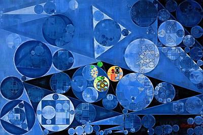 Rectangles Digital Art - Abstract Painting - Denim by Vitaliy Gladkiy