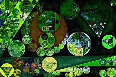 Rectangles Digital Art - Abstract Painting - Feijoa by Vitaliy Gladkiy